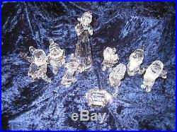 Swarovski Crystal Disney Snow White and the Seven Dwarfs 9 Complete Set MIB