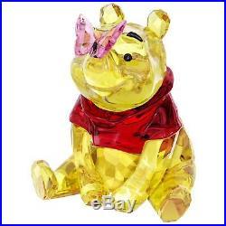 Swarovski Crystal Disney Winnie The Pooh With Butterfly #5282928 Brand Nib F/sh