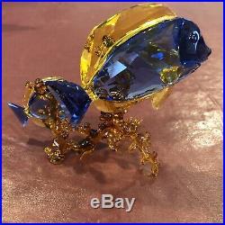 Swarovski Crystal Doctorfish Blue Fish Figurine 5223194 Rare Crystal Figurine