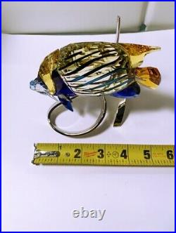 Swarovski Crystal Emperor Angel Fish Jonquil Mint In Box W Coa 1072590