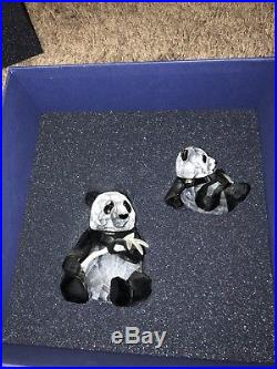 Swarovski Crystal Endangered Wildlife Pandas 2008