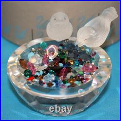 Swarovski Crystal Figurine 010029 MIB Bird Bath