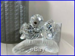 Swarovski Crystal Figurine 1989 Annual Edition Amour The Turtle Doves MIB COA