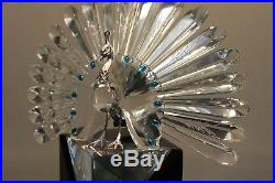 Swarovski Crystal Figurine 218123 Limited Edition The Peacock 7.5H 5432 / 10000