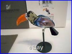 Swarovski Crystal Figurine 284062 MIB Bamba Black Bird