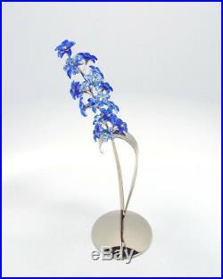 Swarovski Crystal Figurine 9601 Dindori Sapphire Paradise Flower, 677990, MIB