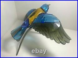 Swarovski Crystal Figurine Birds of Paradise Blue Turquoise Roller 957568