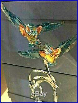 Swarovski Crystal Figurine Birds of Paradise Kingfishers, Turquoise 5136835