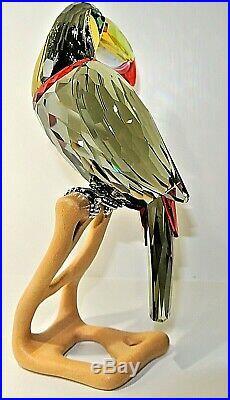 Swarovski Crystal Figurine Birds of Paradise Toucan, Black Diamond 850600