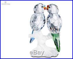 0bbab1a01 Swarovski Crystal Figurine Budgies Love Birds 680627 / 5268833 Mint In Box  Coa