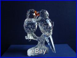 0197a08e8 Swarovski Crystal Figurine Budgies Parakeets 680627 MIB – Swarovski ...