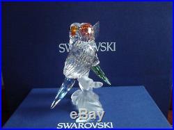 Swarovski Crystal Figurine Budgies Parakeets 680627 MIB