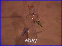 Swarovski Crystal Figurine Budgies Parakeets with color accents COA Mint