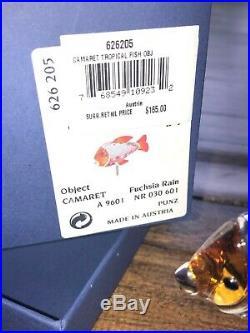 Swarovski Crystal Figurine Camaret Tropical Fish #626205