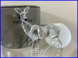 Swarovski Crystal Figurine Doe Deer Standing 7608 000 003 / 214821 MIB WithCOA