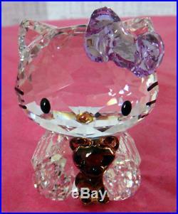 Swarovski Crystal Figurine Hello Kitty Bear 2011 withbox