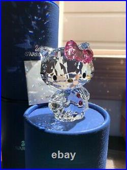Swarovski Crystal Figurine Hello Kitty Pink Bow 2011 with box 1096877