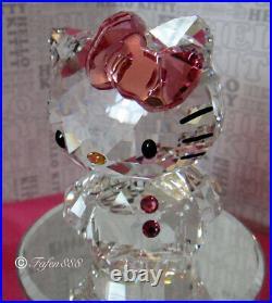 Swarovski Crystal Figurine Hello Kitty Pink Bow 2011 withbox