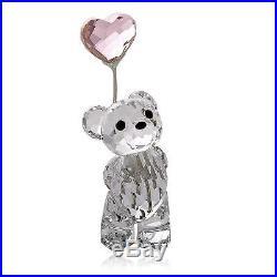 Swarovski Crystal Figurine I LOVE YOU Kris Bear With Heart Bear Ballon #842933