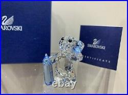 Swarovski Crystal Figurine Kris Bear It's A Boy! 9400 000 163 / 905790 MIB WithCOA