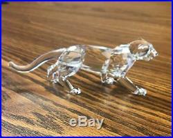 Swarovski Crystal Figurine LEOPARD JUNGLE CAT 217093 / 7610 000 002 Mint in box