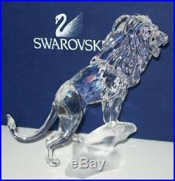 Swarovski Crystal Figurine LION On Rock Rare Encounters 269377 MIB COA NEW