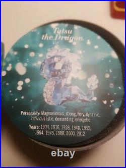 Swarovski Crystal Figurine Lovlots Zodiac Tatsu The Dragon 5004621 MIB