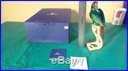 Swarovski Crystal Figurine Macaw Paradise Bird Chrome Green Mint In Original Box