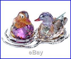 Swarovski Crystal Figurine Mandarin Ducks 1141631 Retired New in Box Birds Duck