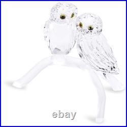 Swarovski Crystal Figurine Owls On Branch 1003312