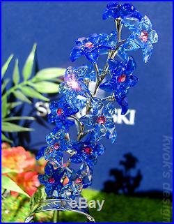 Swarovski Crystal Figurine Paradise Dindori, Sapphire flower Box/Booklet CT