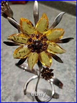 Swarovski Crystal Figurine Paradise Exotic Flower DAMBULLA Topaz 4 9601040401