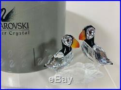 Swarovski Crystal Figurine Puffins 7621 000 008 / 261643 MIB / COA