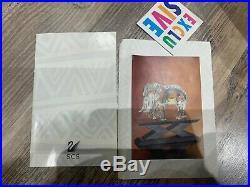 Swarovski Crystal Figurine SCS 1993 Elephant Large MIB WithCOA Inspiration Africa
