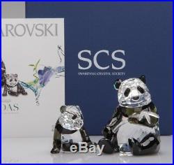 Swarovski Crystal Figurine SCS 2008 Pandas Set Annual Edition 900918 MIB COA