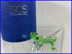 Swarovski Crystal Figurine SCS Green Gecko Event Piece 2008 905541 MIB WithCOA