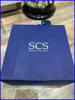 Swarovski Crystal Figurine SCS Tiger Standing Brown MIB WithCOA