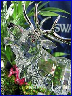 Swarovski crystal figurine stag doe deer reindeer fawns on set boxes coas swarovski - Swarovski stag figurine ...