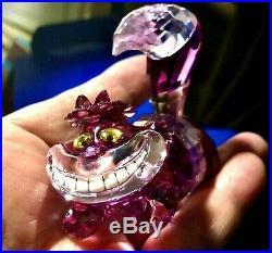 Swarovski Crystal Figurines Disney CHESHIRE CAT Mint Boxed Rare Here Kitty Kitty