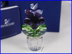 Swarovski Crystal Flower, Violet Retired 2008 Mib #855897