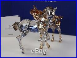 Swarovski Crystal Foals Playing Mib #1121627
