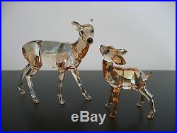 Swarovski Crystal GOLDEN Colored Doe and Fawn