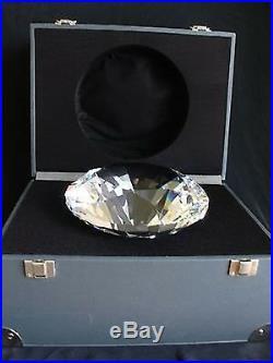 Swarovski Crystal Giant Chaton Paperweight Diamond Rare 7433 180 000 / 158924