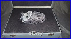 Swarovski Crystal Giant Owl Figurine 7636 165 000 Mint 6 1/2 High