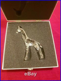 Swarovski Crystal Giraffe Figurine with Original Box Excellent 5 3/8