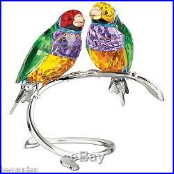 Swarovski Crystal Gouldian Finches Bird Figurine 1141675 ($740) NIB