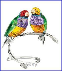 Swarovski Crystal Gouldian Finches Peridot #1141675 Brand Nib Bird Save$$ F/sh