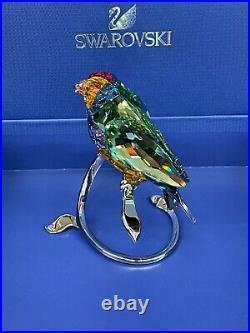 Swarovski Crystal Gouldian Finches Peridot BIRDS Figurine #1141675 NEW in Box