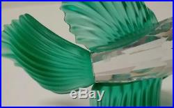 Swarovski Crystal Green Fighting Fish Figurine