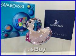 Swarovski Crystal Happy Ducks Pink Ribbon Duck 9400 000 310 / 1079887 MIB WithCOA